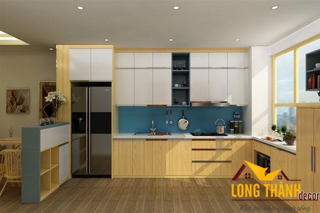 Tủ bếp gỗ Veneer LT16