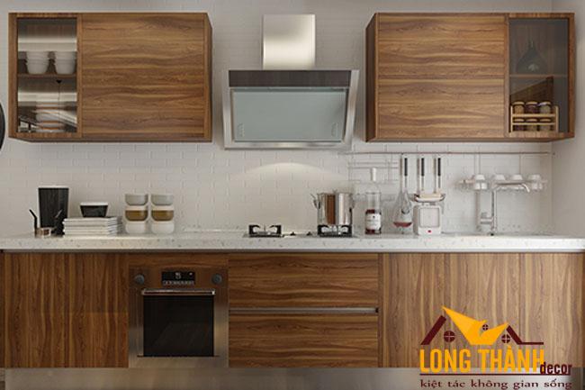 Tủ bếp gỗ Veneer LT17