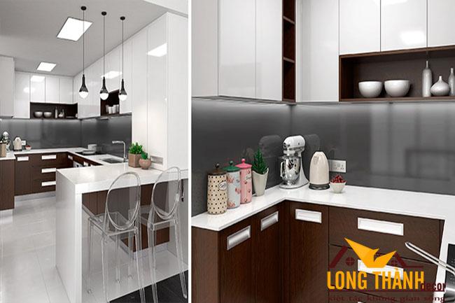 Thiết kế tủ bếp gỗ Veneer LT19