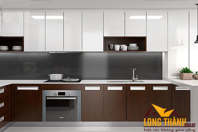 Tủ bếp gỗ Veneer LT19