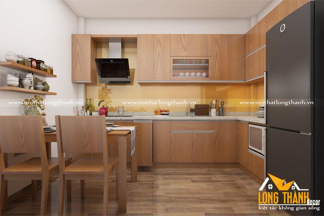 Tủ bếp gỗ Veneer LT20