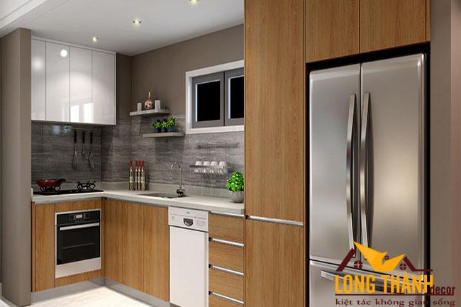 Tủ bếp gỗ Veneer LT21