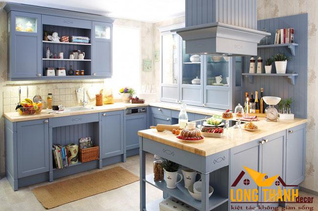 Tủ bếp gỗ Veneer LT22