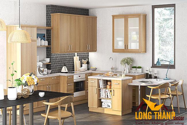 Tủ bếp gỗ Veneer LT23