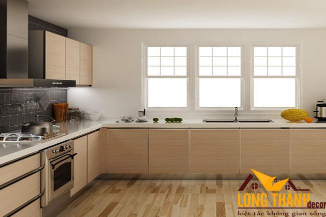 Thiết kế nội thất tủ bếp gỗ Veneer LT24