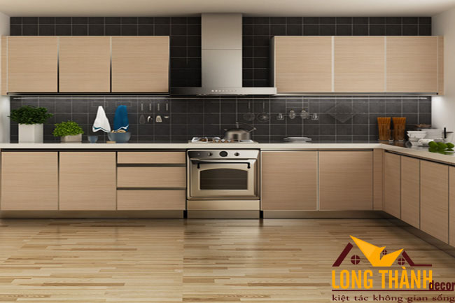 Tủ bếp gỗ Veneer LT24