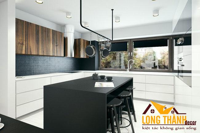 Tủ bếp gỗ Veneer LT25