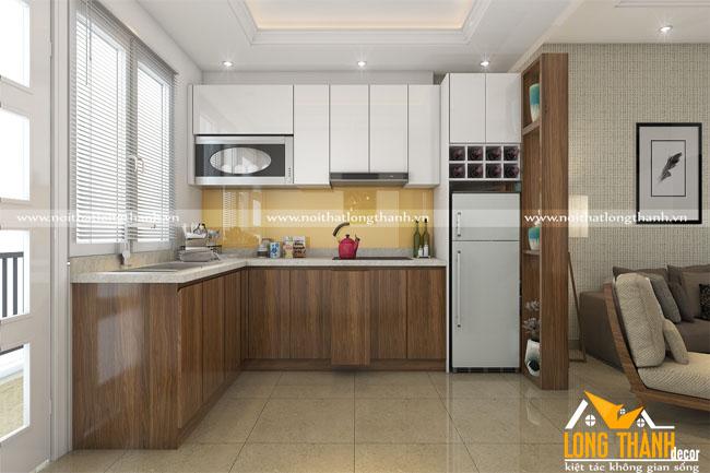 Tủ bếp gỗ Veneer  LT27