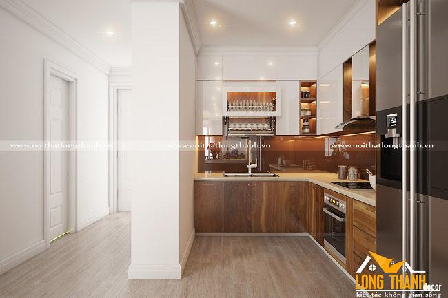Tủ bếp gỗ Veneer LT28