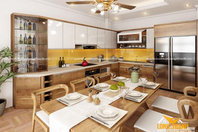 Tủ bếp gỗ Veneer LT29