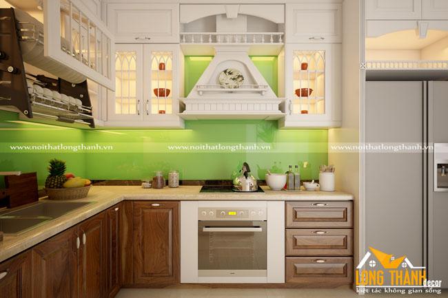 Tủ bếp tân cổ điển có phù hợp với nhà chung cư không?