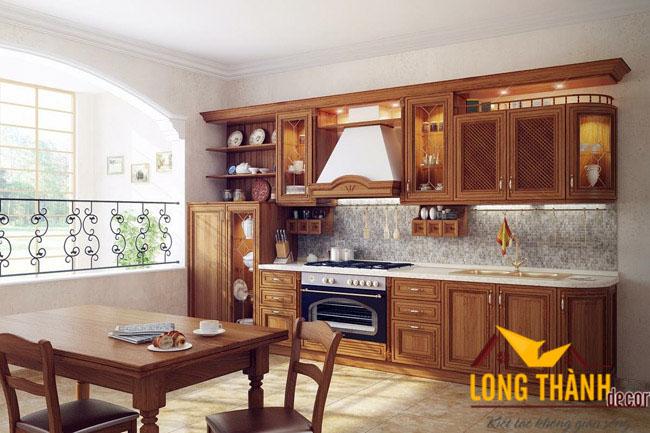Vì sao tủ bếp bằng gỗ tự nhiên sơn PU vẫn được lựa chọn