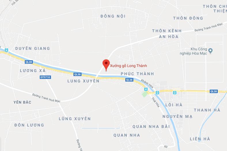 Vị trí định vị xưởng gỗ Long Thành trên google/maps