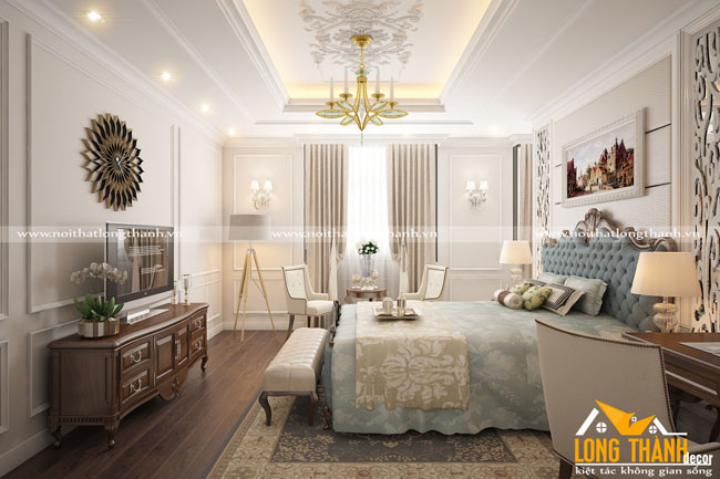 Xu hướng thiết kế phòng ngủ dành cho những người thích phong cách tân cổ điển nhẹ nhàng