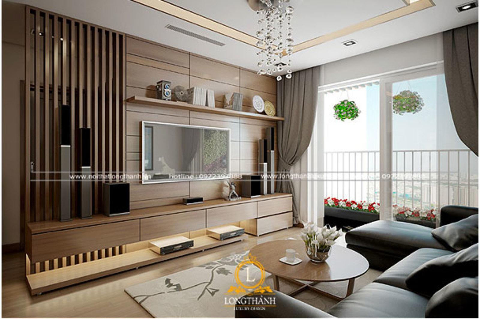 Mềm mại, sang trọng với phòng khách thiết kế theo phong cách hiện đại