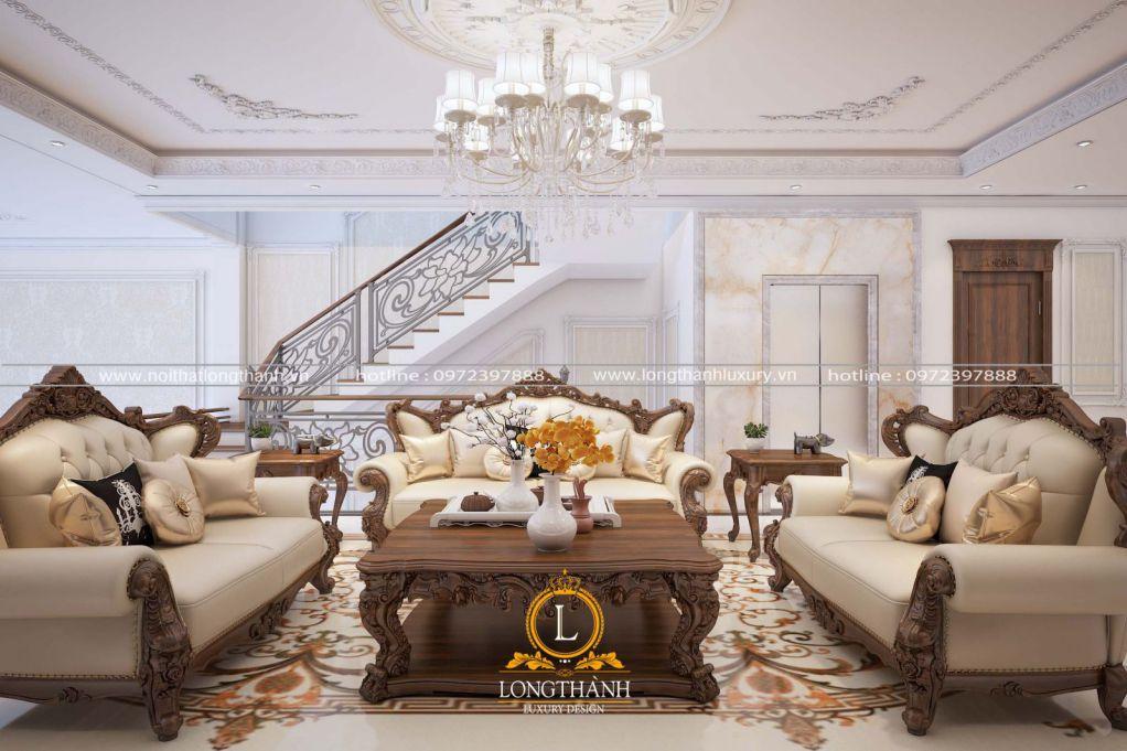 Dự án thiết kế thi công phòng khách bếp nhà anh Long tại Nam Định