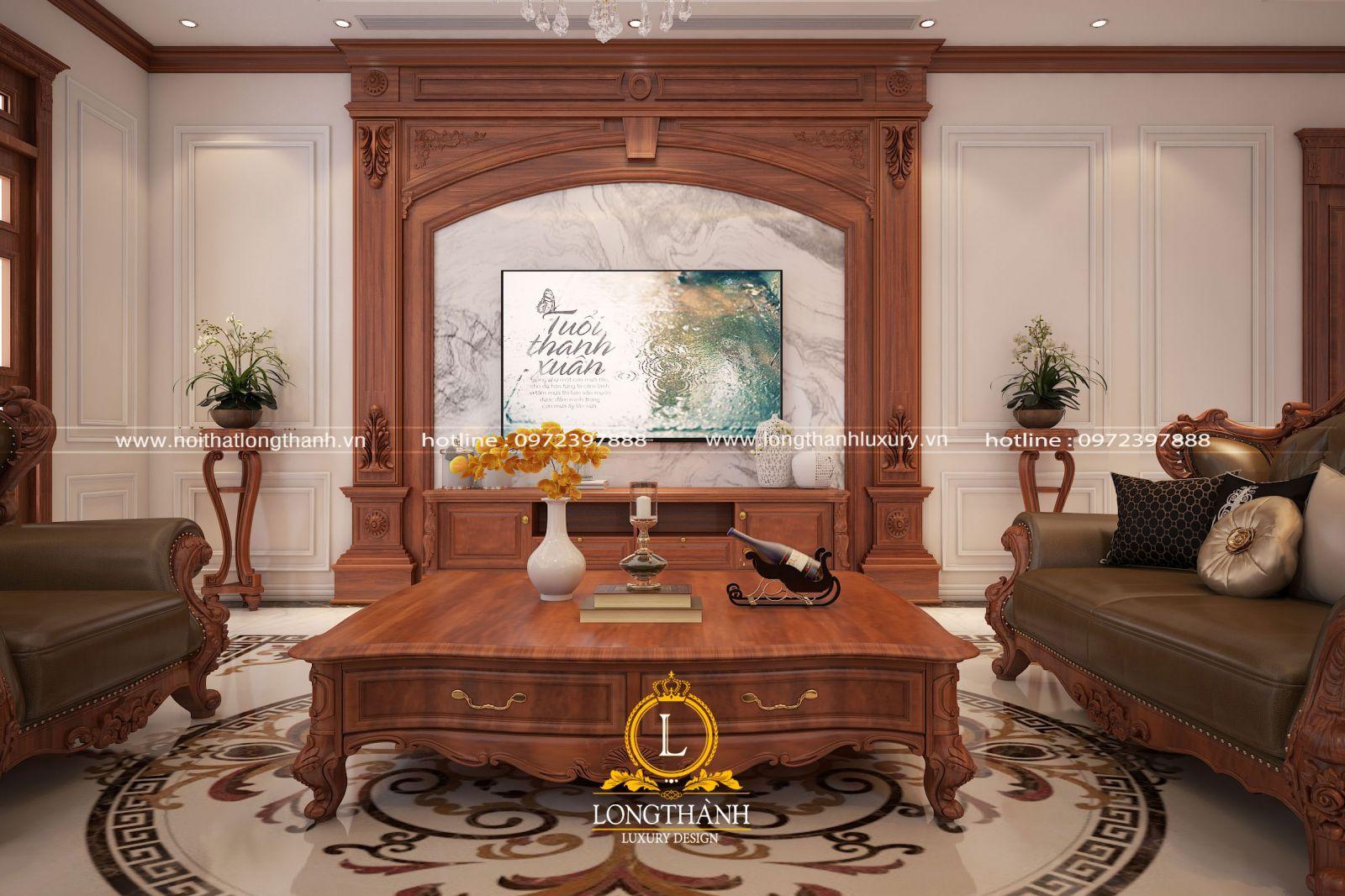 Mẫu nội thất phòng khách biệt thự đẹp LT11