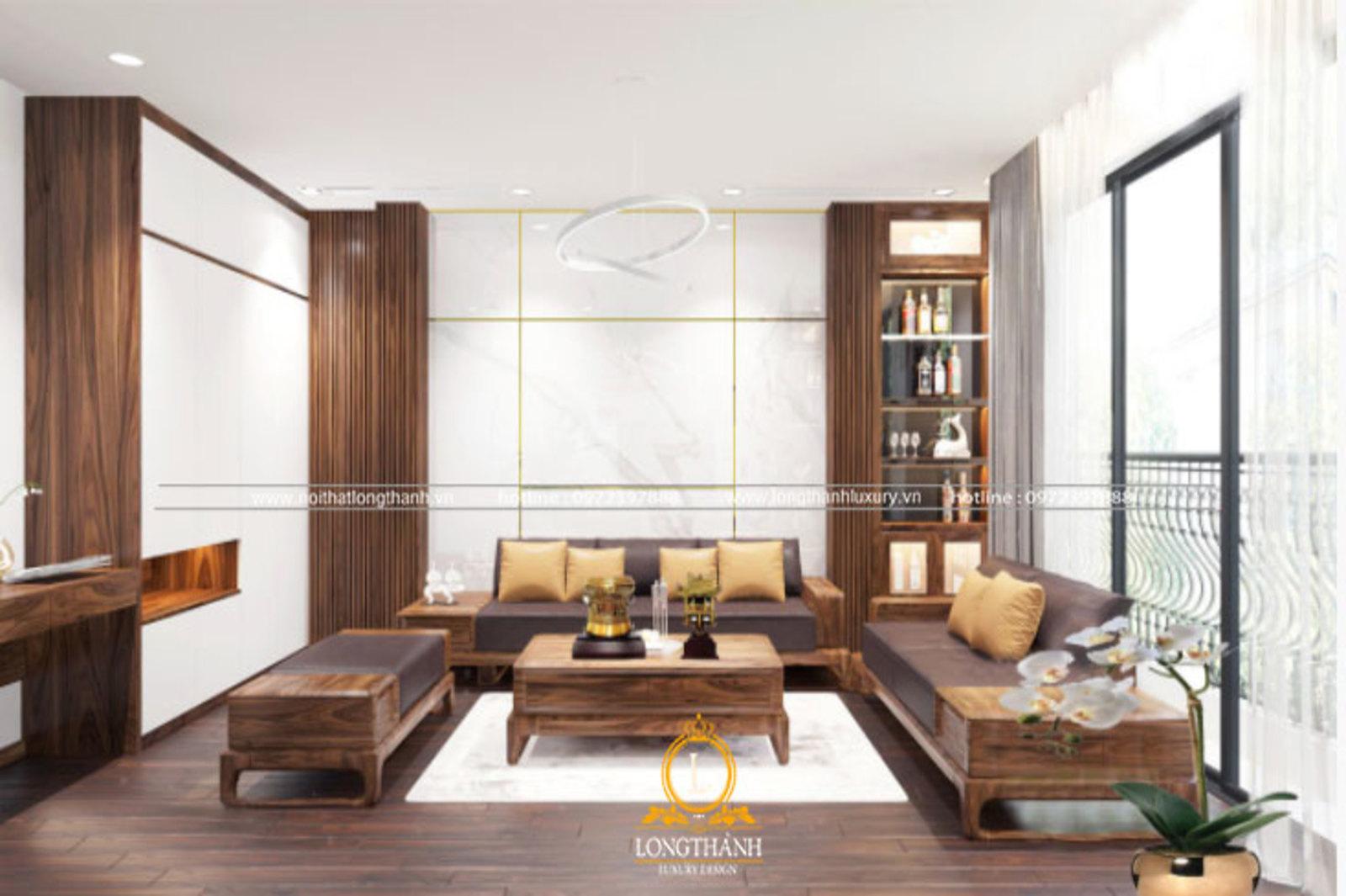 Phòng khách đẹp cho căn phòng chung cư hiện đại