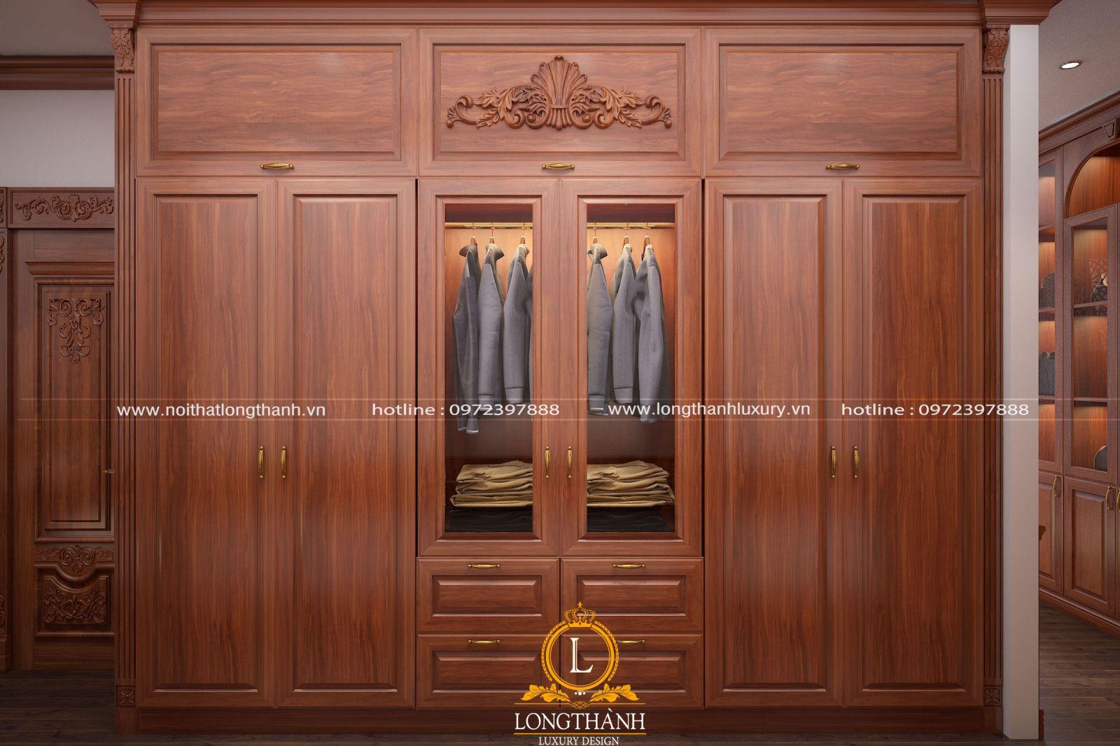 Những mẫu tủ áo tân cổ điển sang trọng tại nội thất Long Thành