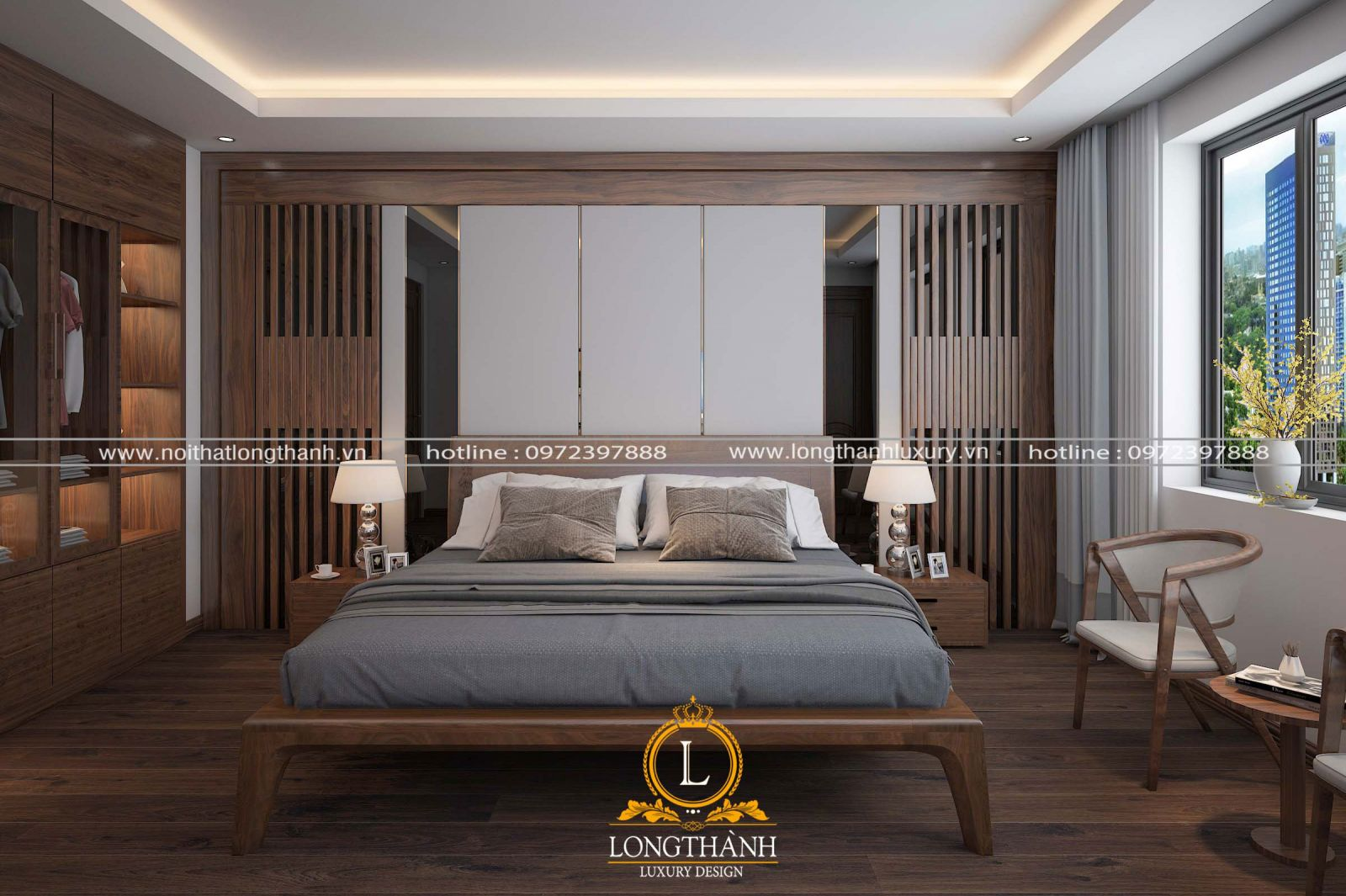 Phòng ngủ cao cấp theo phong cách hiện đại