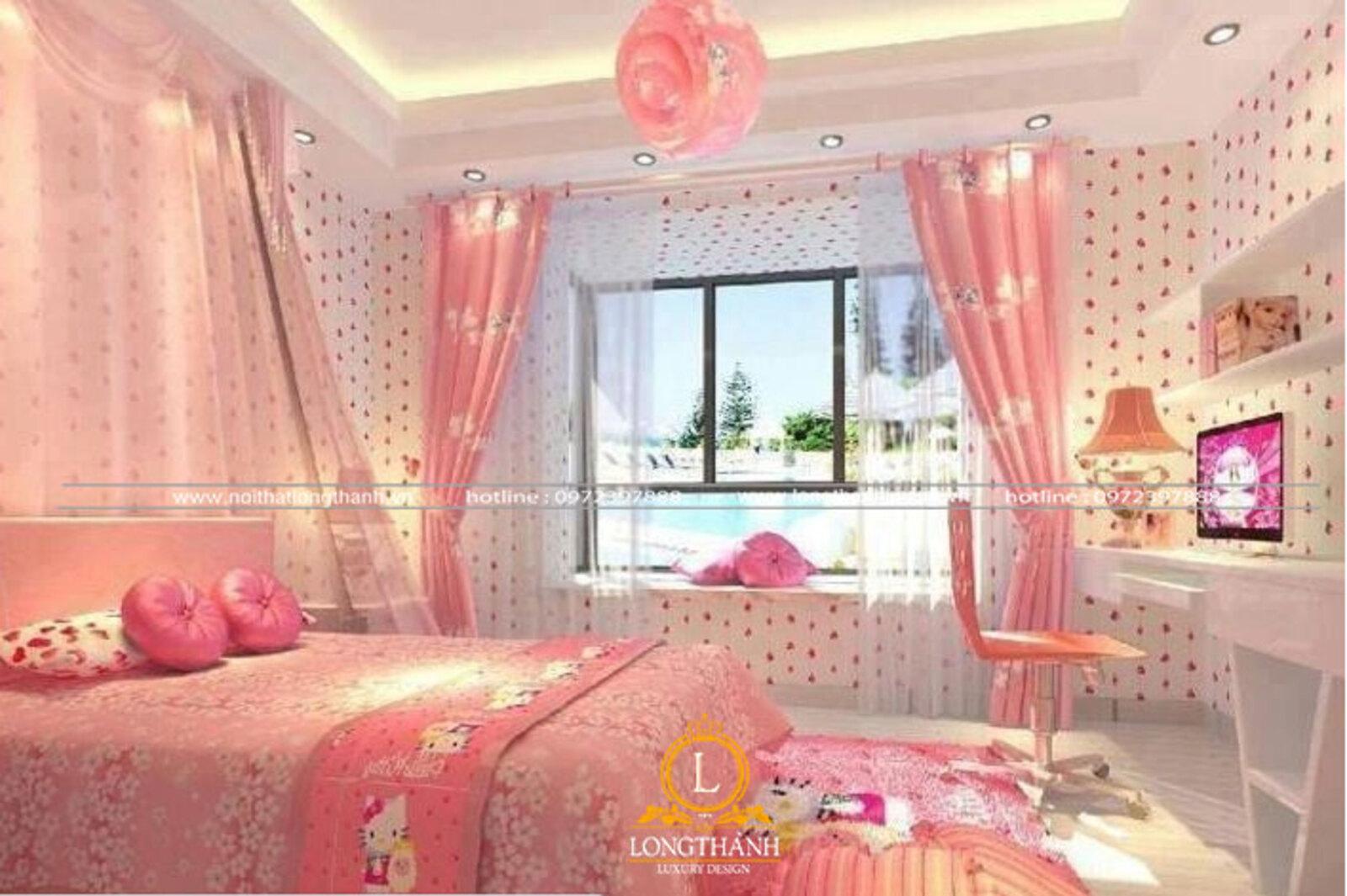 10 Mẫu phòng ngủ hiện đại, đáng yêu dành cho bé gái