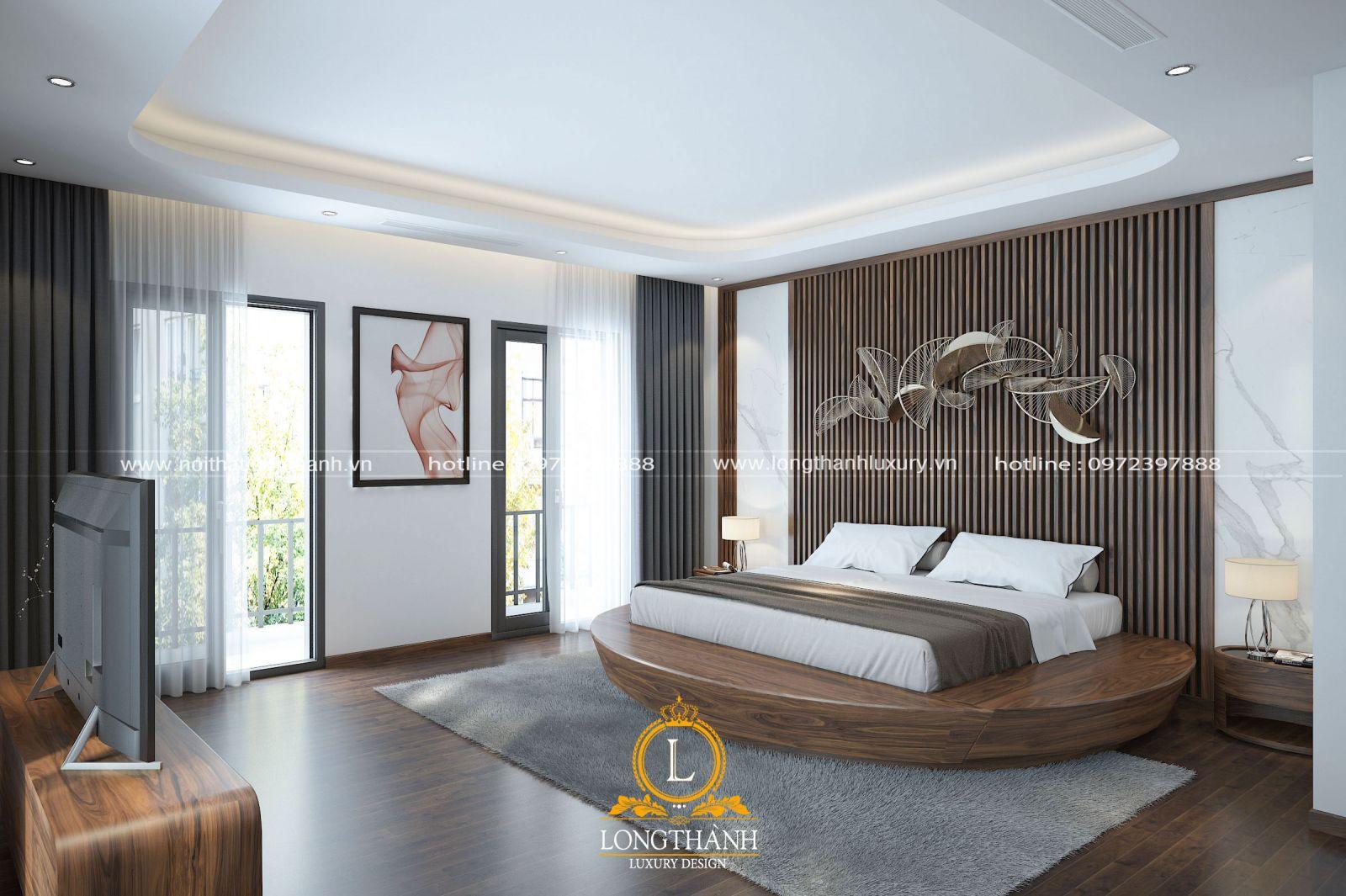Mẫu thiết kế hiện đại cho phòng ngủ có diện tích rộng