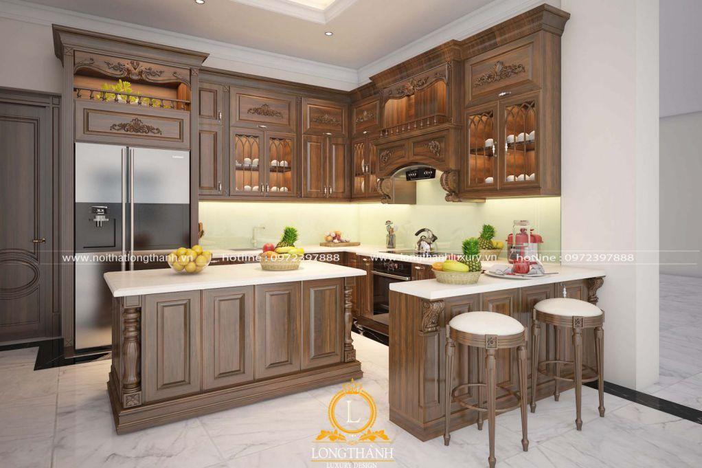 Dự án thiết kế thi công tủ bếp nhà anh Dũng tại Ninh Bình
