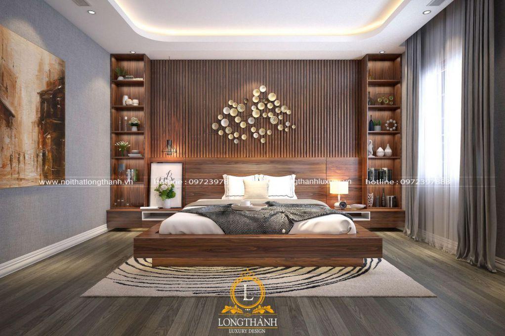 Mẫu thiết kế phòng ngủ master nhà phố rộng sang trọng hiện đại và tinh tế