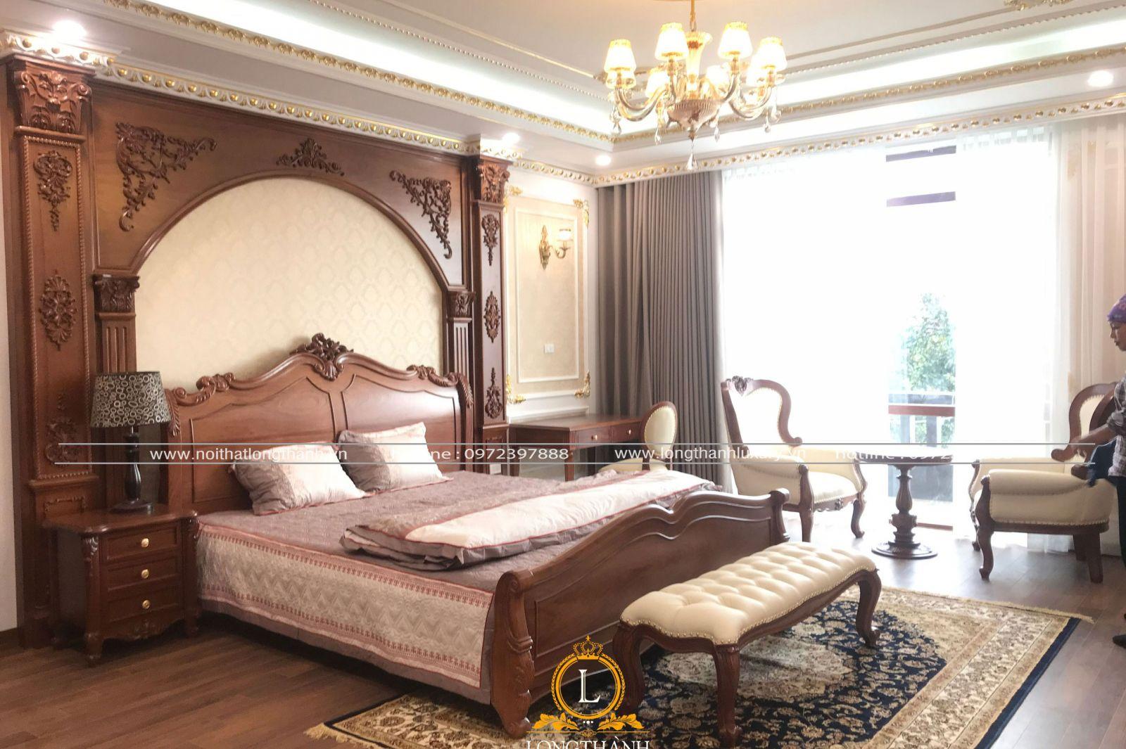 Dự án thiết kế thi công nội thất phòng ngủ chị Hằng TP Bắc Giang