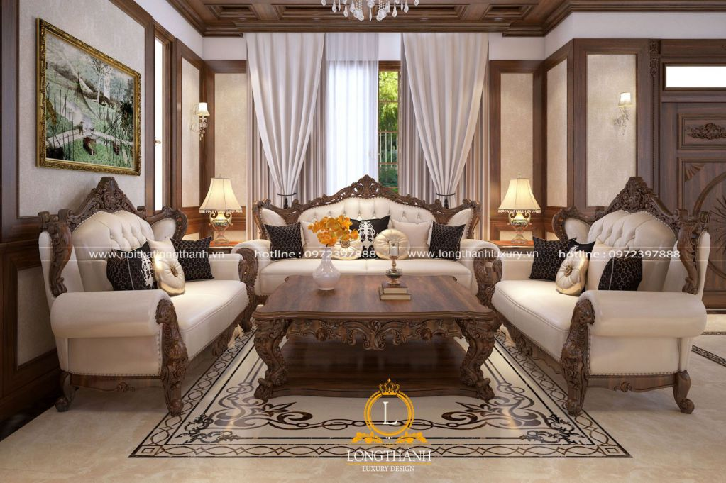 Phòng khách biệt thự đẹp LT32