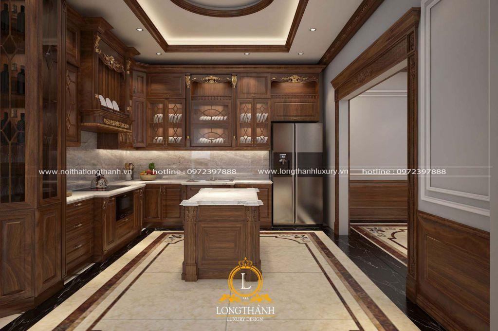 Mẫu tủ bếp tân cổ điển đẹp cho năm 2020 không nên bỏ qua