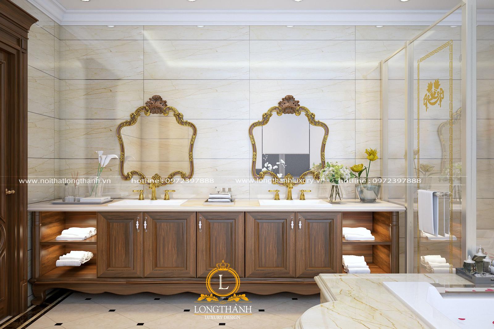 12 mẫu thiết kế tủ Lavabo đẹp theo phong cách hiện đại