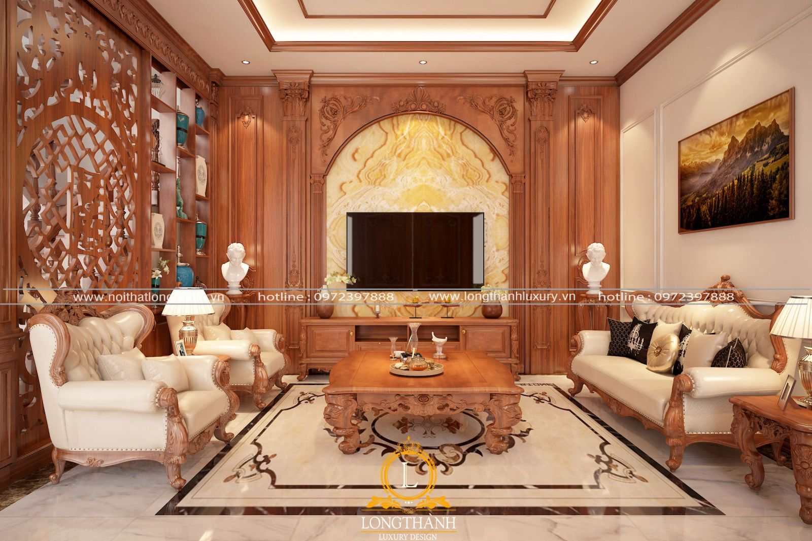 Những mẫu phòng khách biệt thự đẹp xu hướng 2021