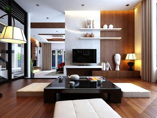 Mẫu thiết kế nội thất phòng khách kiểu Nhật – Giản dị mà tiện nghi