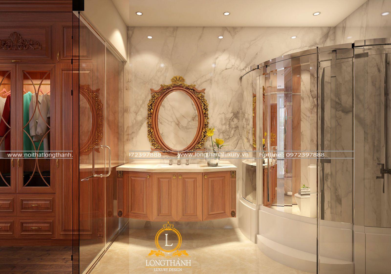 Top 10 mẫu phòng tắm tân cổ điển sang trọng, đẳng cấp