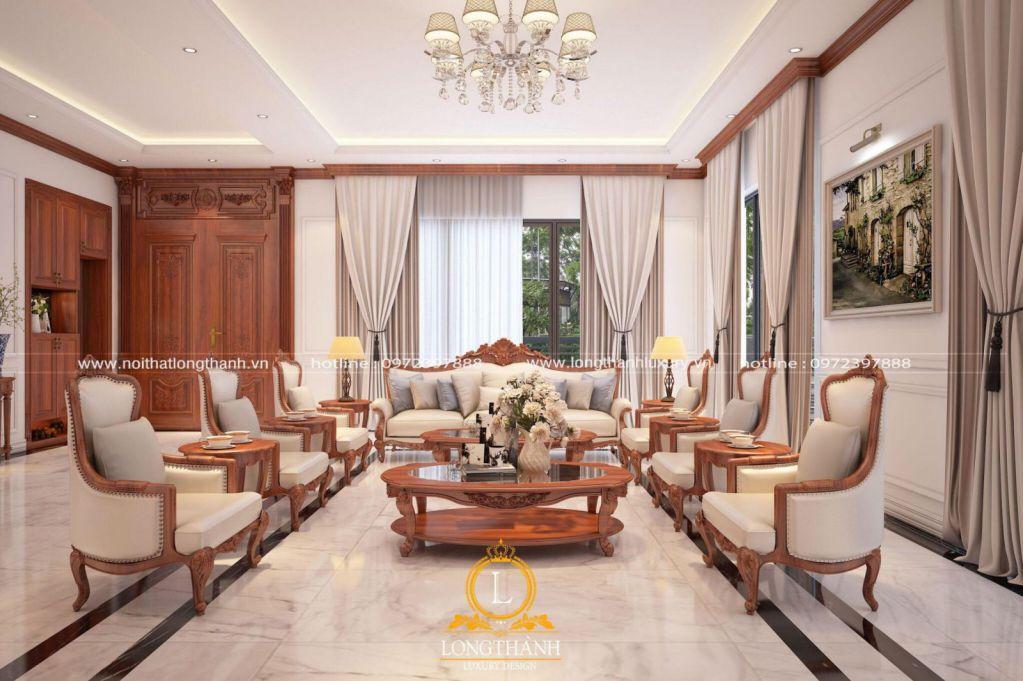 Nội thất phòng khách hiện đại đẹp được thiết kế tối giản
