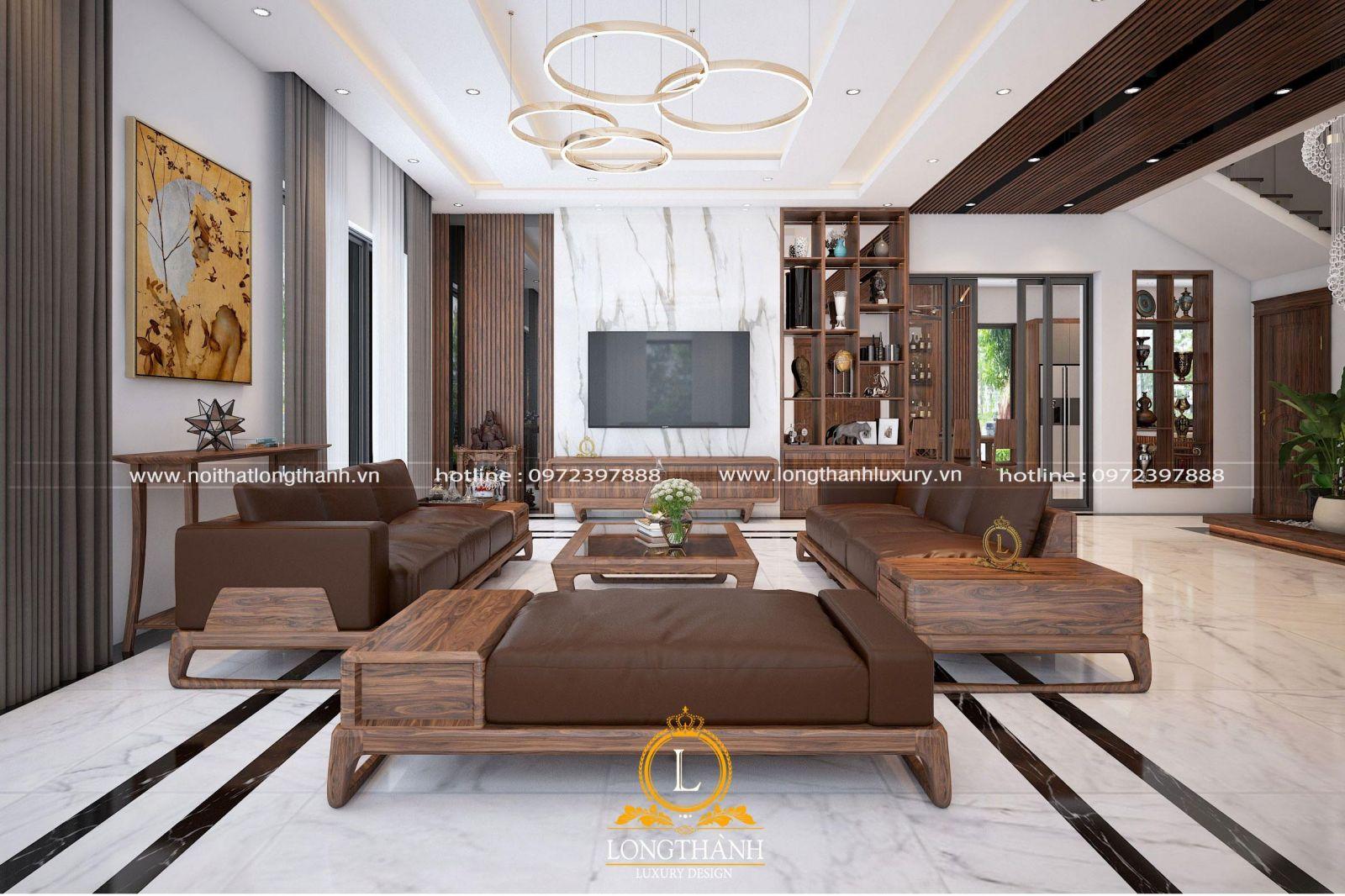 Mẫu phòng khách thiết kế theo phong cách hiện đại được ưa chuộng năm 2020
