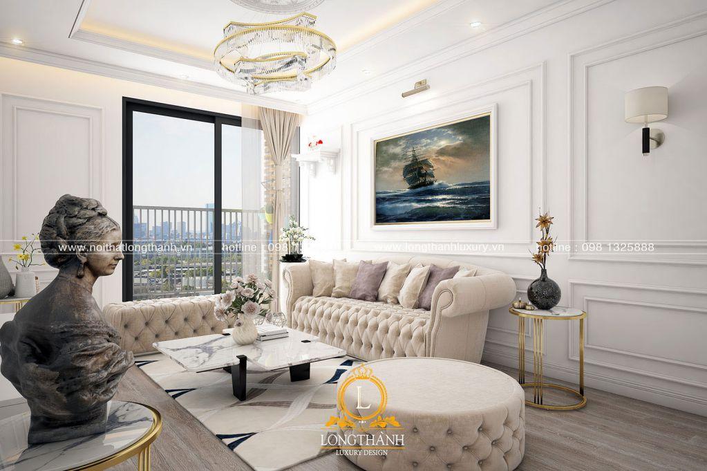 Dự án thiết kế nội thất tân cổ điển nhẹ nhàng cho nhà chị Phương chung cư An Bình City