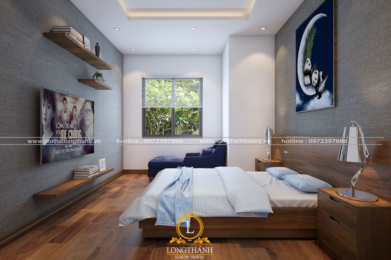 Mẫu thiết kế nội thất phòng ngủ hiện đại dành cho bé trai