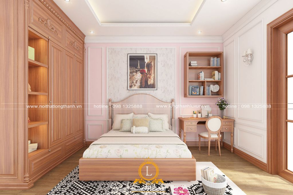 Phòng ngủ tân cổ điển dành cho bé gái