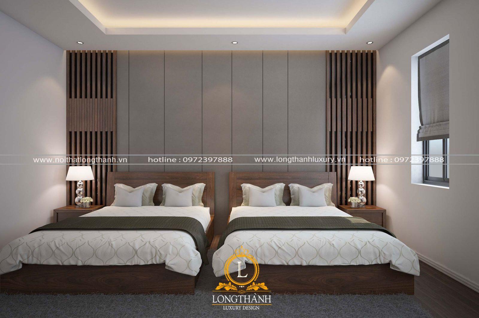 Mẫu phòng ngủ đôi cao cấp cho không gian khiêm tốn