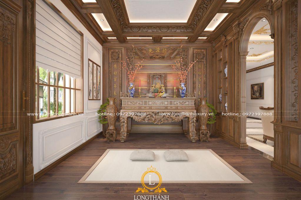 Dự án thiết kế thi công phòng thờ nhà anh Diệp tại Quỳ Hợp, Nghệ An
