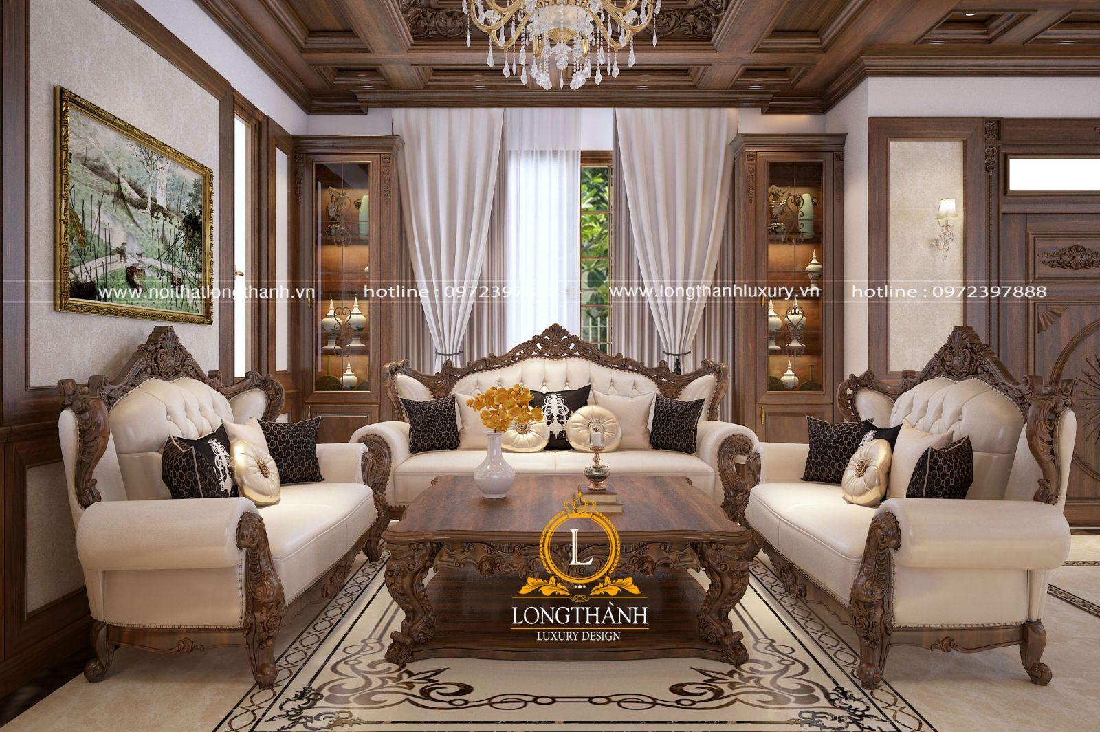 Top [ 9 ] mẫu rèm nâng tầm đẳng cấp cho phòng khách tân cổ điển