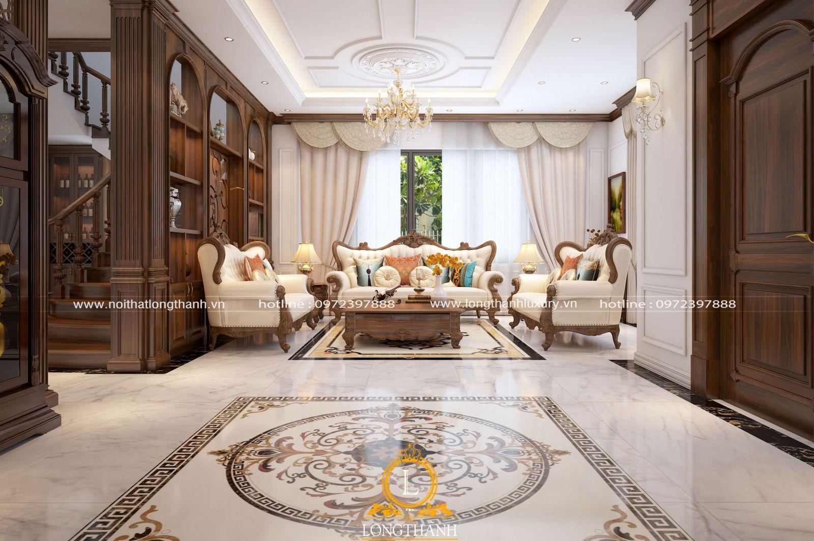 Sofa tân cổ điển đơn giản