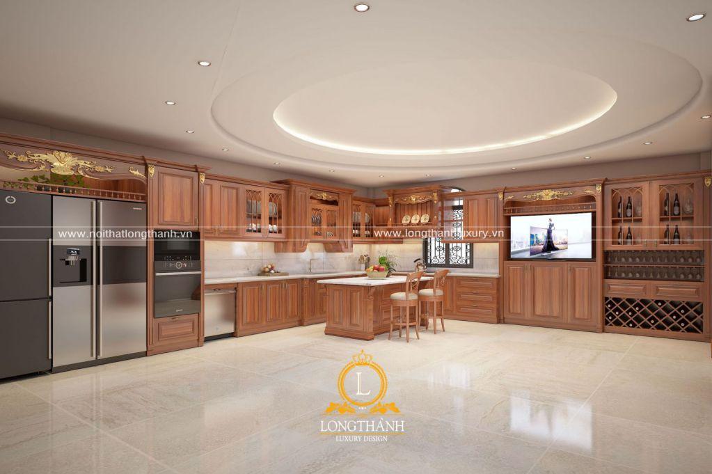 Dự án thiết kế không gian bếp nhà chị Lan tại Móng Cái, Quảng Ninh