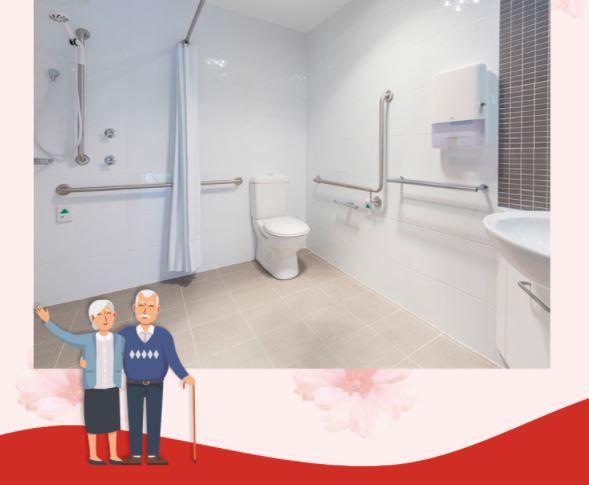 Những lưu ý khi thiết kế nhà vệ sinh cho người cao tuổi