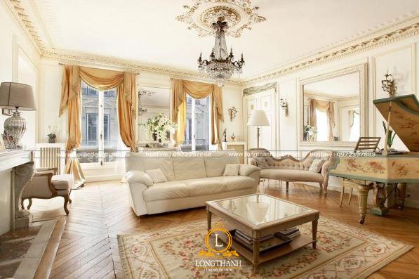 Mẫu thiết kế nội thất biệt thự Pháp