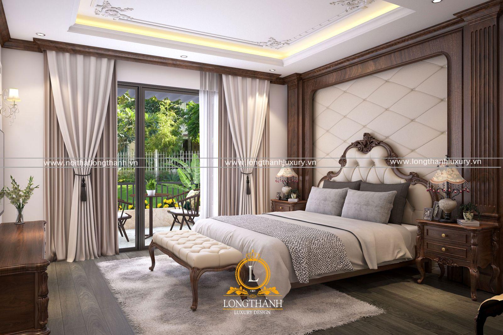 Mẫu nội thất phòng ngủ cao cấp dành cho không gian rộng