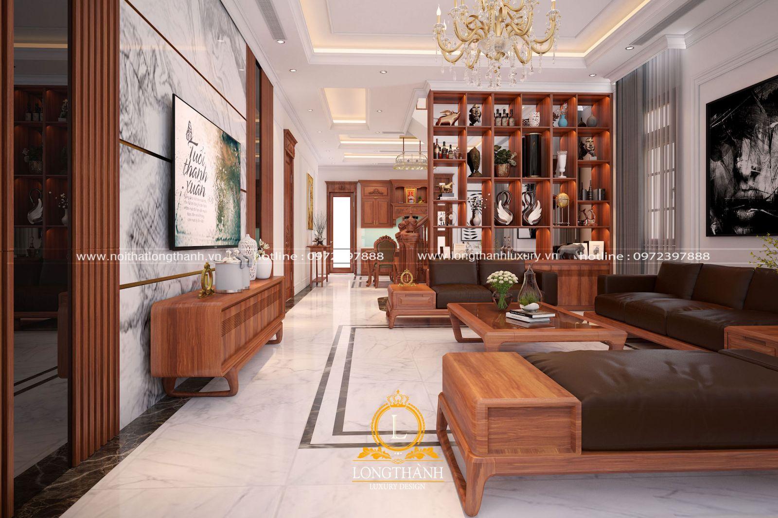 Phòng khách liên hoàn phòng bếp và phòng ăn