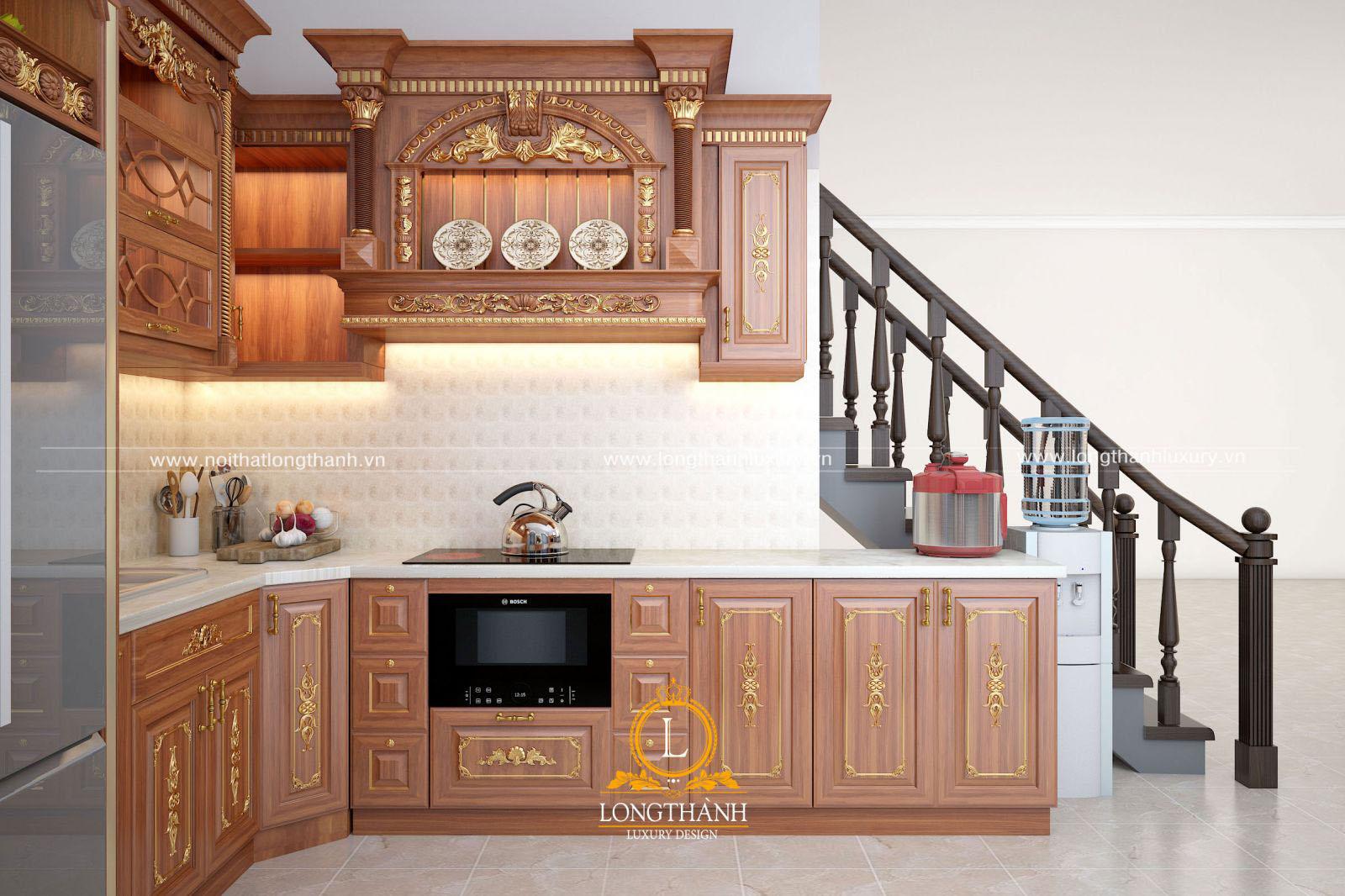 Thiết kế tủ bếp dưới gầm cầu thang – Nên hay không?